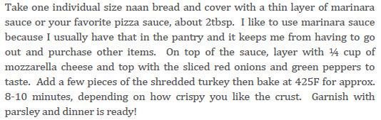 Naan Pizza